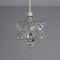 Chrome effect Pendant Ceiling light