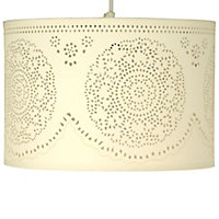 Ivory Doily cylinder Light shade (D)300mm