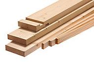 Planed Whitewood spruce Internal Door lining set, (H)2100mm (W)131mm