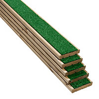 Grassedeck Softwood Deck board (T)28mm (W)144mm (L)2100mm, Pack of 5