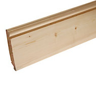 Pine Dual profile Skirting board (L)3.6m (W)219mm (T)19.5mm, Pack of 2