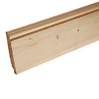 Smooth Pine Dual profile Skirting board (L)3.6m (W)219mm (T)19.5mm
