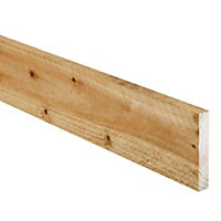 Sawn Spruce Stick timber (L)2.4m (W)100mm (T)19mm, Pack of 10