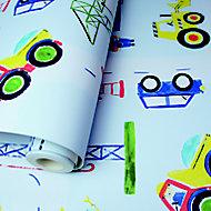 Holden Décor Multicolour Cars & builder Smooth Wallpaper