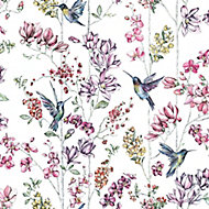Holden Décor Statement Multicolour Floral Smooth Wallpaper