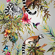 Holden Décor Statement Multicolour Rainforest Metallic effect Smooth Wallpaper