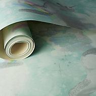 Holden Décor Teal Unicorn Glitter effect Smooth Wallpaper
