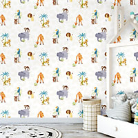 Holden Décor Multicolour Jungle animals Smooth Wallpaper