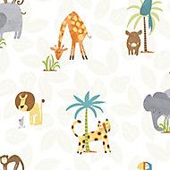 Holden Décor Multicolour Jungle animals Smooth Wallpaper