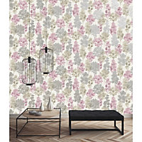 Statement Delamere Tree Metallic effect Wallpaper