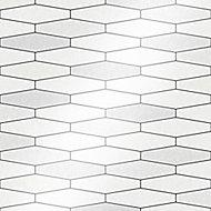Holden Décor Black & white Tile effect Blown Wallpaper