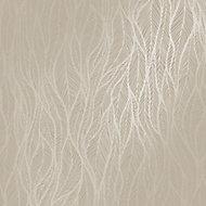 Holden Décor Grey Feather Metallic effect Wallpaper