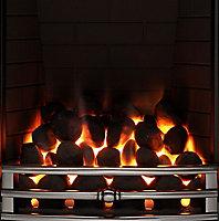 Focal Point Soho full depth Chrome effect Gas Fire