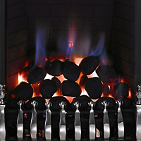 Focal Point Blenheim Black Chrome effect Gas Fire