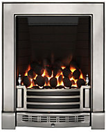 Focal Point Finsbury full depth Chrome effect Gas Fire