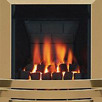 Focal Point Laiton multi flue Brass effect Gas fire