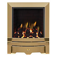Focal Point Laiton full depth Brass effect Gas fire