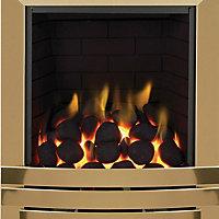 Focal Point Laiton full depth Brass effect Gas fire