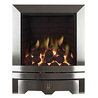 Focal Point Lulworth Chrome effect Gas Fire