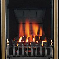 Focal Point Classic multi flue Black Brass effect Gas Fire