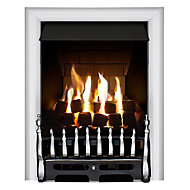 Focal Point Blenheim multi flue Chrome effect Gas Fire