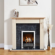 Focal Point Blenheim Chrome effect Gas Fire Suite