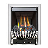 Focal Point Elegance Multi flue Black Chrome effect Gas Fire