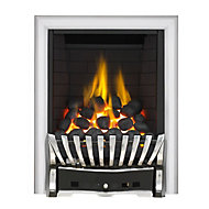 Focal Point Elegance Full depth Black Chrome effect Gas Fire
