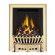 Focal Point Elegance Full depth Brass effect Gas Fire
