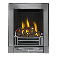 Focal Point Finsbury Chrome effect Gas Fire