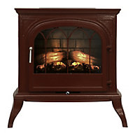 Focal Point Leirvik Burgundy Electric Stove