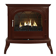 Focal Point Leirvik Burgundy Gas stove
