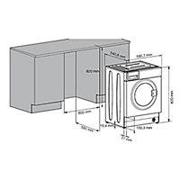 Beko QWM84 White Built-in Washing machine