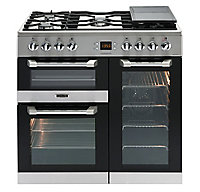 Leisure Cuisinemaster CS90F530X Freestanding Dual fuel Range cooker with Gas Hob