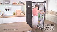 Beko ASD241B American style Black Freestanding Fridge freezer