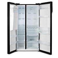Beko ASGN542B American style Black Freestanding Fridge freezer