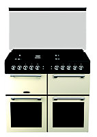 Leisure Chefmaster CC100F521C Freestanding Dual fuel Range cooker with Gas & electric Hob