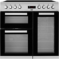 Beko KDVC90X Freestanding Electric Cooker with Ceramic Hob