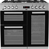 Beko KDVF90X Freestanding Dual fuel Cooker with Gas Hob