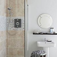 Aqualisa Quartz Electric Graphite Chrome effect Electric Shower, 9.5kW