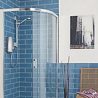 Aqualisa Aquastream Chrome effect Thermostatic Mixer Shower