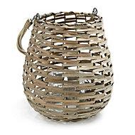 Glass & willow Lantern, Small