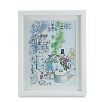 Charlie & The Chocolate Factory White Framed print (H)310mm (W)380mm