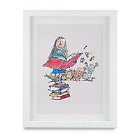 Matilda White Framed print (H)310mm (W)380mm