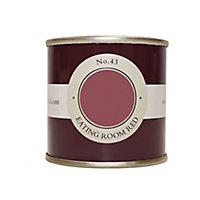 Farrow & Ball Estate Eating room red No.43 Emulsion paint 100ml Tester pot