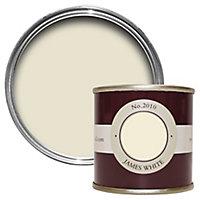 Farrow & Ball Estate James white No.2010 Emulsion paint, 0.1L Tester pot