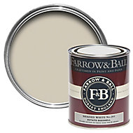 Farrow & Ball Shaded White no.201 Estate Eggshell paint 750 ml