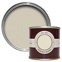 Farrow & Ball Estate Shaded white No.201 Emulsion paint, 0.1L Tester pot