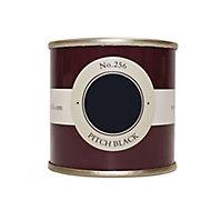 Farrow & Ball Estate Pitch black No.256 Emulsion paint, 0.1L Tester pot
