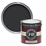 Farrow & Ball Estate Pitch black No.256 Matt Emulsion paint, 2.5L